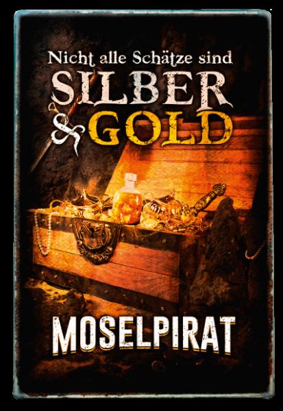 Blechschild (20 x 30) - Silber & Gold